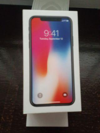 iPhone X empty box 64gb space grey