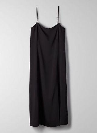 NWT Aritzia Babaton Slit Slip Dress Black Size S