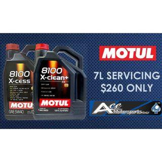 Servicing Package - Motul 8100 X-Clean+ 5W30/ X-Cess 5W40