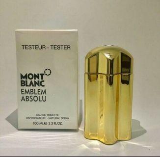 MONT BLANC EMBLEM ABSOLU ORIGINAL PERFUME TESTER UNIT