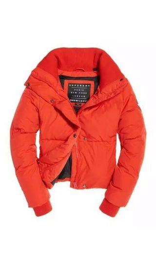 Superdry red puffer jacket