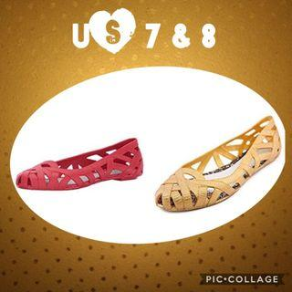Authentic Melissa Jean + Jason Wu Flats US 7 & 8 ; Eur 38 & 39 in stock