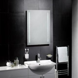 [005] Pebble Grey 500 x 700 mm Bathroom Mirror With Lights Tannon LED Illuminated Bathroom Mirror - Demister & Sensor Switch (500 x 700 mm) [Energy Class A]