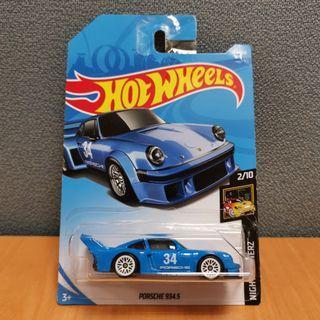 Hot Wheels NIGHTBURNERZ PORSCHE 934.5 # 34 blue