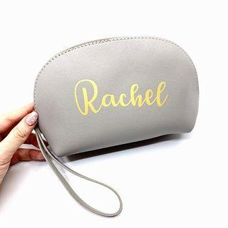 Teacher's Day - Personalised leather Ellie pouch