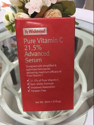 $22 MAILED!! Wishtrend Pure Vitamin C 21.5% Advance Serum 30ml