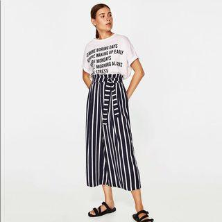 Zara striped culottes