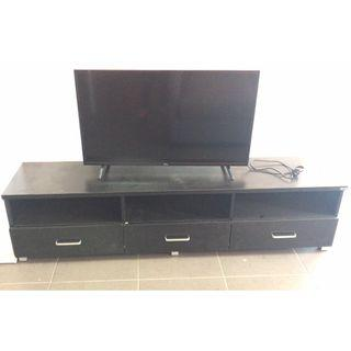 3 Drawer 3 Shelves Entretainment TV Unit in BLACK, 1.8M WIDE at $170