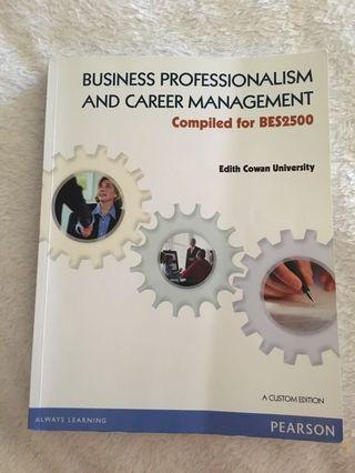 BES2500 Business Professionalism & Career Mngt Book