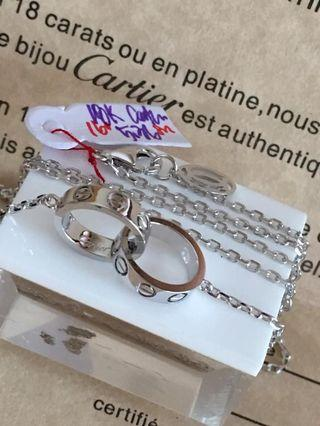 Cartier love necklace with serial and inclusions 18karat solid gold