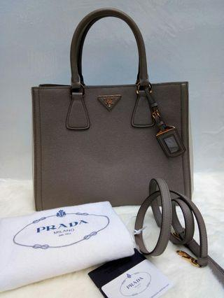 Prada Saffiano Lux Two Tone  Bag Authentic