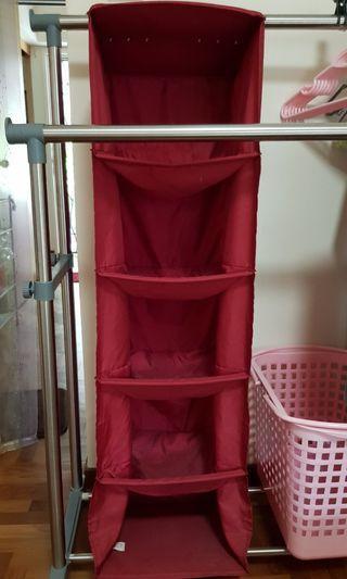 Ikea wardrobe 5 tier shelving divider organizer