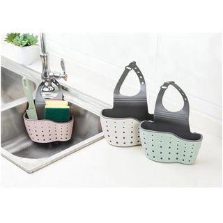 In stock 3 colours Kitchen bathroom sink tap sponge vanity organiser brush toothbrush storage organizer holder tray