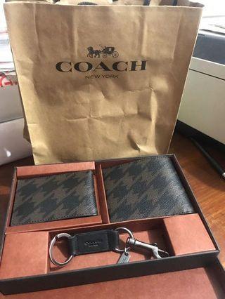Dompet COACH cowo set - coach man wallet dompet lipat