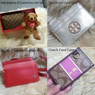 Auth Coach/Tory Burch/Agnes B Card Cases