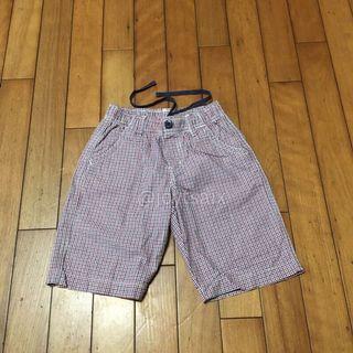 二手110cm-125cm Uniqlo 男童內綁帶鬆緊褲頭休閒短褲五分褲