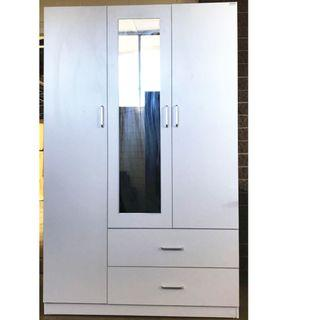 Free Delivery ! 3 door 2 Drawer Wardrobe at $365
