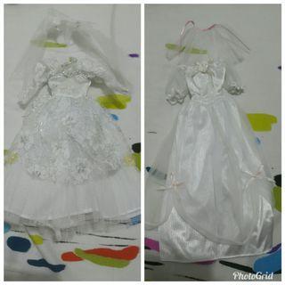 玩具公仔Wedding Dress 2件