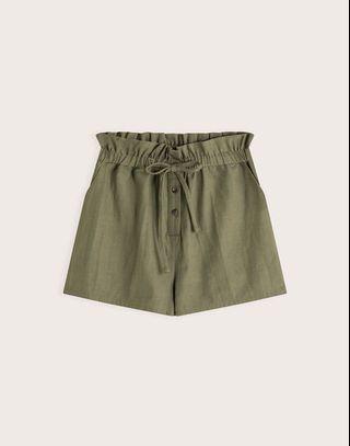 《全新轉賣》Pazzo✖️休閒自在感前排釦綁帶短褲