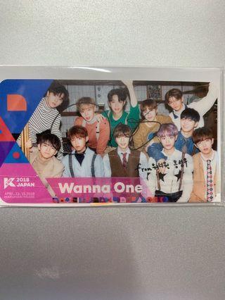 WANNA ONE 2018 K CON 官方 小卡