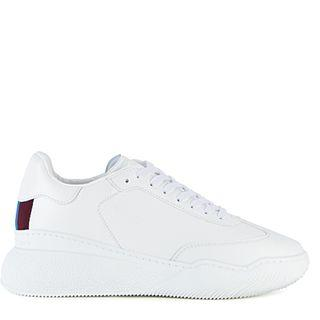 Stella McCartney New Loop white faux leather trainers