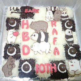 Kue Ulang Tahun brownies potong