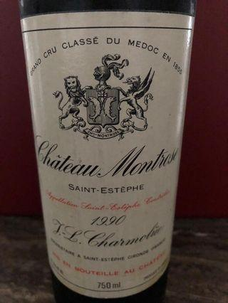 Chateau Montrose 1990 two bottles
