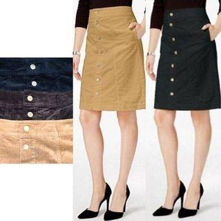 Button Skirt corduroy