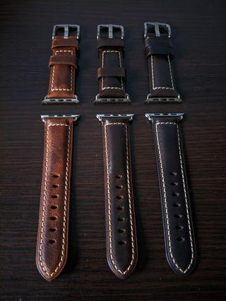Premium Quality Oil Waxed Italian Leather Band for apple watch series 4/3/2/1