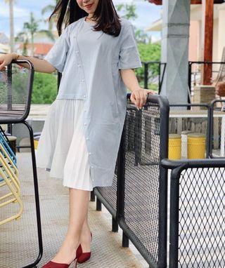 Dress soft blue / casual dress