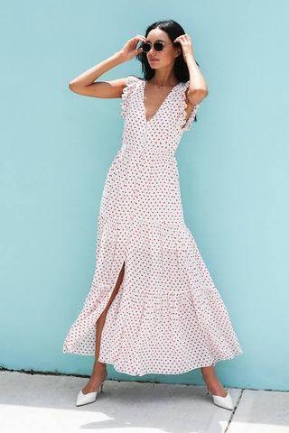 Steele Riley Ruffle Maxi Dress - Size S RRP $289