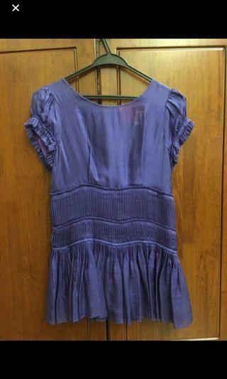 Beautiful Daggle Spirea purple blouse top