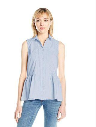 French Connection cotton blue blouse top