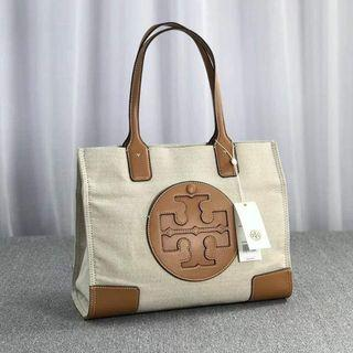 ON HAND: Authentic TORY BURCH Ella Canvas Tote Bag