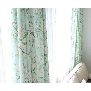Custom Made Country Style Flora Blue based Night Curtain
