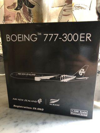 新 1:400 Phoenix PH 新西蘭航空全黑B777-300ER New Zealand NZ All Black 77W 飛機模型
