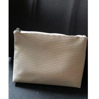 全新Maria Galland 珍珠色化妝袋  拉鍊化妝袋/收納用