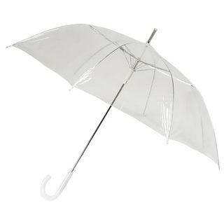 Umbrella Transparent Long Handheld Design Girl Women Female Outdoor Portable Slim Clear White
