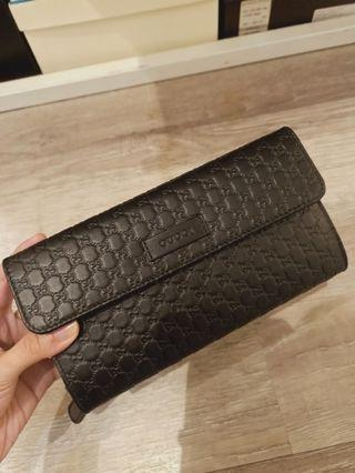 New Gucci Long Wallet black