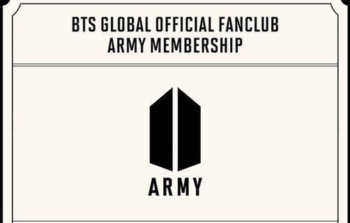 BTS GLOBAL OFFICIAL FANCLUB 6TH ARMY MEMBERSHIP