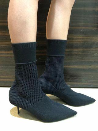 Burberry sock heel shoes