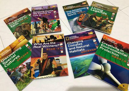 National Geographic English learning books (8book+8DVD)
