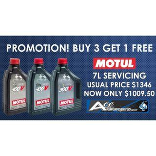 [Buy 3 Free 1] Servicing Package - Motul 300V 5W30/ 5W40/ 15W50