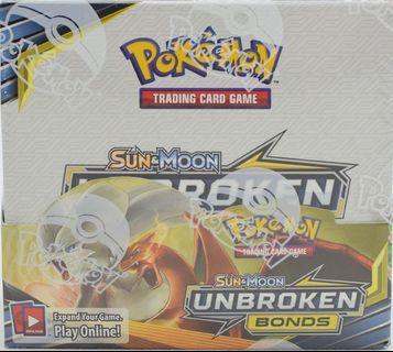 Pokémon unbroken bonds booster box