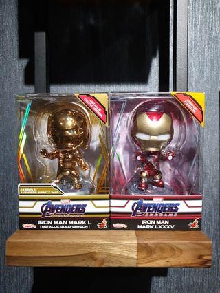 Hot Toys Avengers: Endgame Iron Man MK L and MK 85 Cosbabys MISB