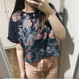 Colorbox Navy Floral Top