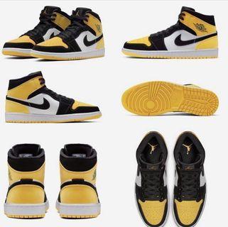 """Air Jordan 1 Mid """" Yellow Toe """""""