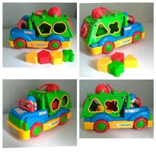 🚛繽紛玩具卡車°形狀顏色認知