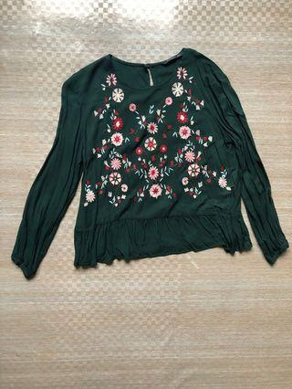 green blouse filanto