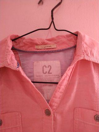 #REPRICE Kemeja Pink C2